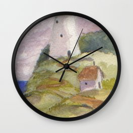 Peaceful Lighthouse II Wall Clock