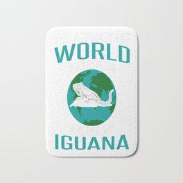 World-Does-Revolve-Around-My-Iguana Bath Mat