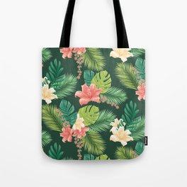 Kitschy Tropical Pattern Tote Bag