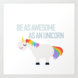 Awesome Unicorn Art Print