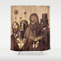 balloons Shower Curtains featuring Victorian Wars  by Terry Fan