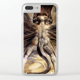 The Great Red Dragon and the Woman Clothed in Sun William Blake Clear iPhone Case