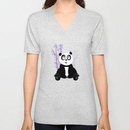 Panda Girl - Purple Unisex V-Neck