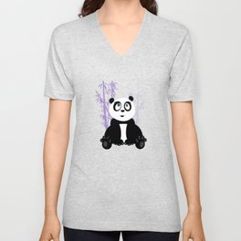 Panda Girl - Purple Unisex V-Neck