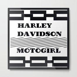 Harley Motogirl Metal Print
