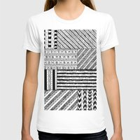 black white T-shirts featuring Black&White White&Black by Kaitlyn_Michelle_