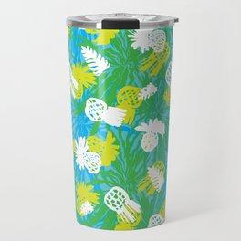 Tropical green pinapples Travel Mug