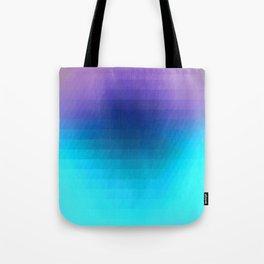 Sunset gradient pixels Tote Bag