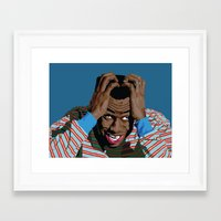 tyler spangler Framed Art Prints featuring Tyler by Lily Patterson