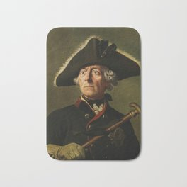 Frederick the Great Painting Bath Mat