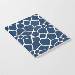 Giraffe Pattern Animal Print (navy) Notebook