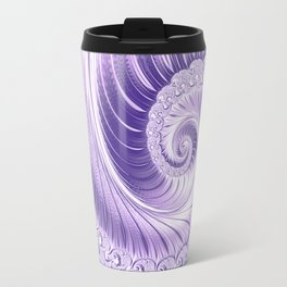Ultra Violet Luxe Spiral Pattern | Trendy Color of the Year 2018 Travel Mug