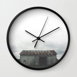 Cloudy Barn Wall Clock