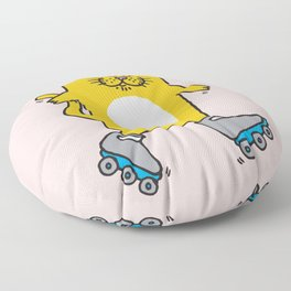 Meow is skating Floor Pillow