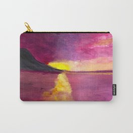 Magenta Sunset Carry-All Pouch