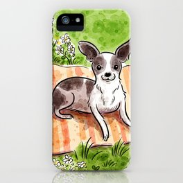 B&W Chihuahua iPhone Case