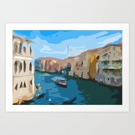 The City over Water Art Print