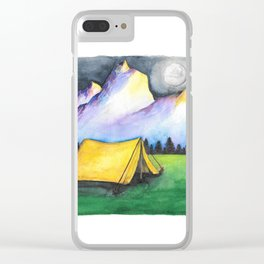 Yellow Tent Clear iPhone Case