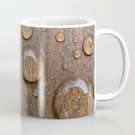 Water Drops on Wood 4 Coffee Mug