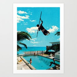 Jump In, The Water is Perfect Art Print