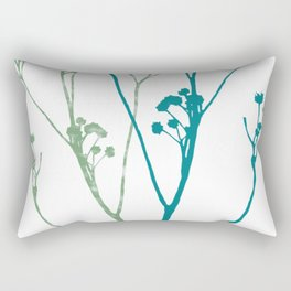 Don't let the tall weeds cast a shadow on beautiful flowers Rectangular Pillow
