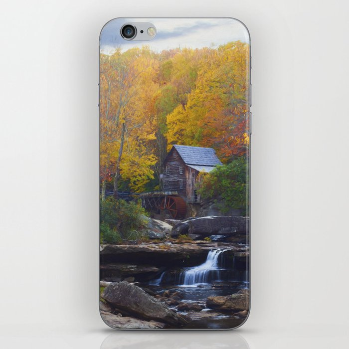 Glade Creek Mill in Autumn iPhone Skin