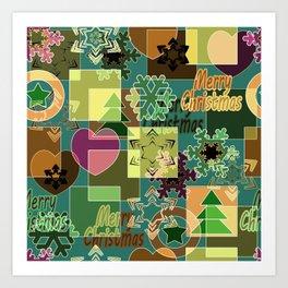Christmas patterns 6 Art Print