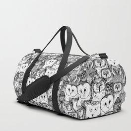 just owls black white Duffle Bag