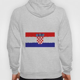Extruded flag of Croatia Hoody