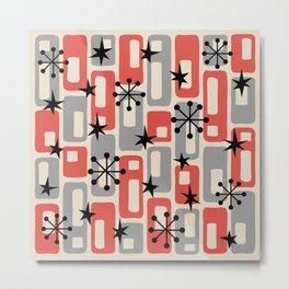 Mid Century Modern Atomic Sparkles 250 Metal Print
