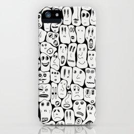 100 Faces iPhone Case