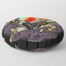 Black Lion Batik Floor Pillow