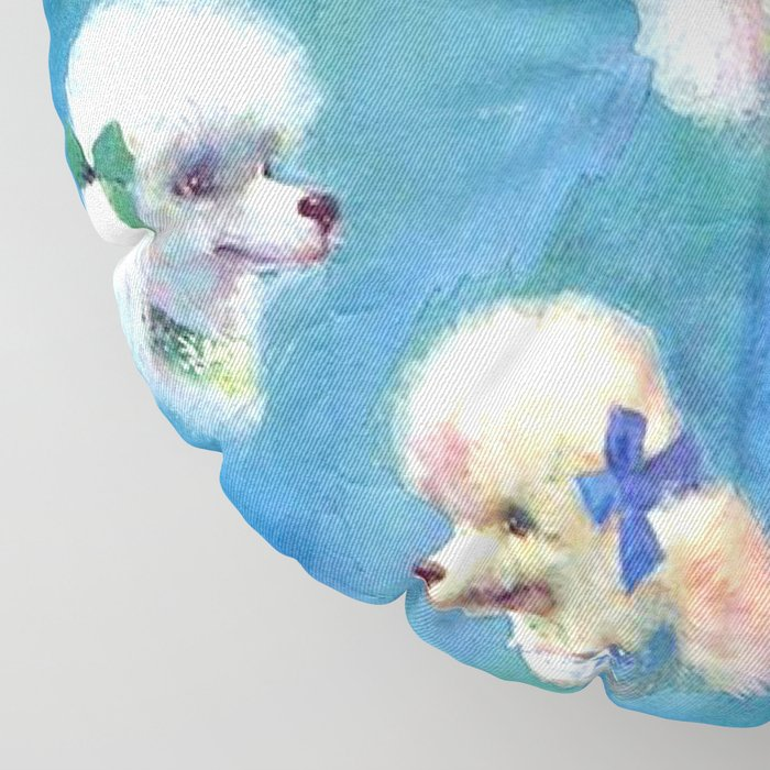 Poodle Mania Floor Pillow