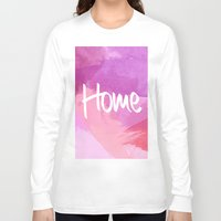 water colour Long Sleeve T-shirts featuring Water Colour Home by Ladsandstuff