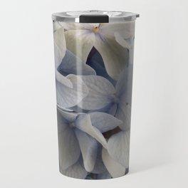 White and Blue Hydrangea Travel Mug