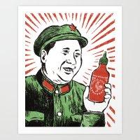 Mao Sauce Art Print