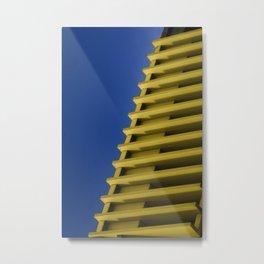 Blue&Yellow Metal Print