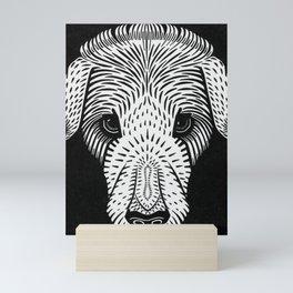 Vintage Dog Block Print Mini Art Print