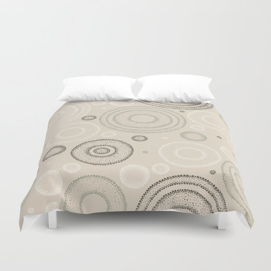 Retro Dotted Pattern 03 Duvet Cover
