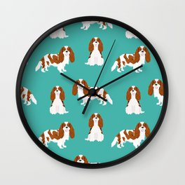 Cavalier King Charles Spaniel blenheim coat dog breed spaniels pet lover gifts Wall Clock