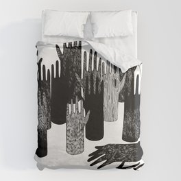 The Forest of Hands Duvet Cover