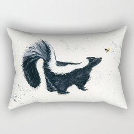 Curious Skunk - animal watercolor painting Rectangular Pillow