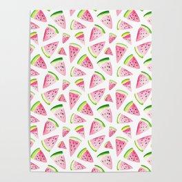 Watercolor Watermelon Pattern Poster