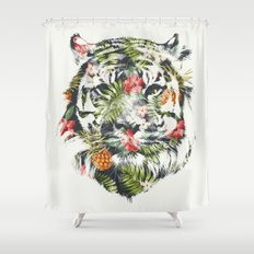 Tropical tiger Shower Curtain