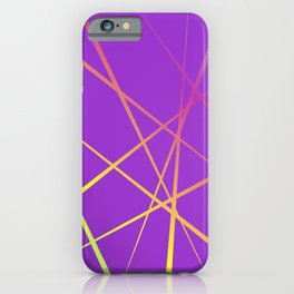 Laser Light Show - Purple iPhone Case