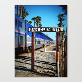 San Clemente Surfliner Canvas Print