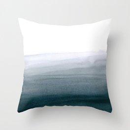 Grey dip-dye background Throw Pillow