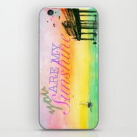 you are my sunshine iPhone & iPod Skins featuring Sunshine by Jacob Thomas