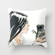 Portrait, Mind Blown Throw Pillow
