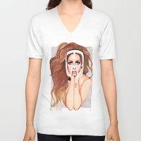 artpop V-neck T-shirts featuring ARTPOP by Anett Borges